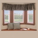 window curtain , 7 Unique Bay Window Curtain Rod In Interior Design Category