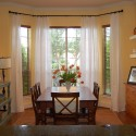 window treatments for bay windows , 8 Nice Bay Window Curtain Rods In Interior Design Category