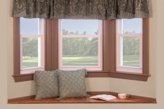 1000x970px 8 Nice Bay Window Curtain Rods Picture in Interior Design