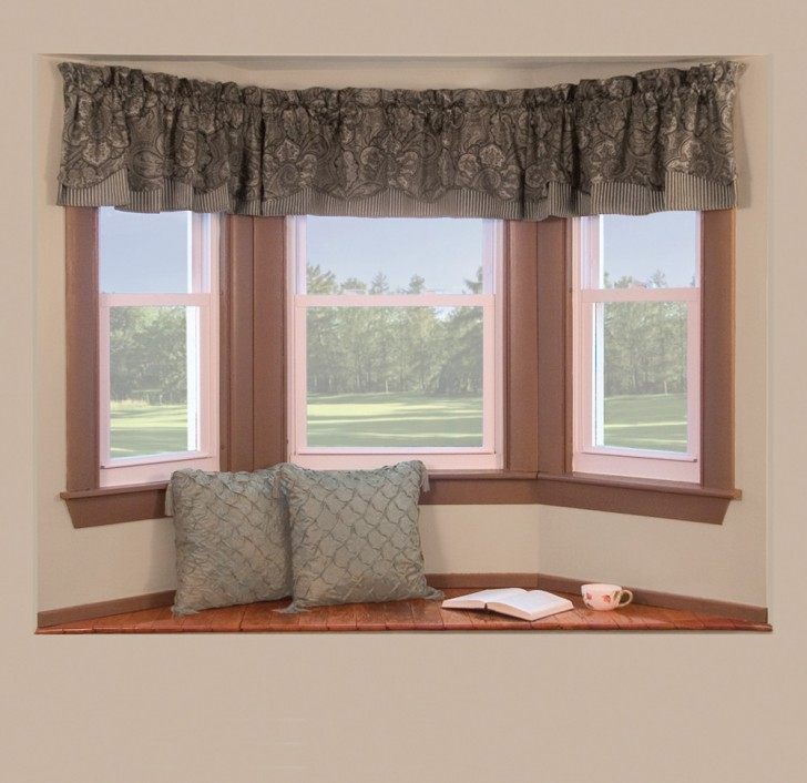 Interior Design , 8 Nice Bay Window Curtain Rods :  window treatments