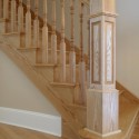 wood stairs , 7 Fabulous Newel Post Designs In Interior Design Category