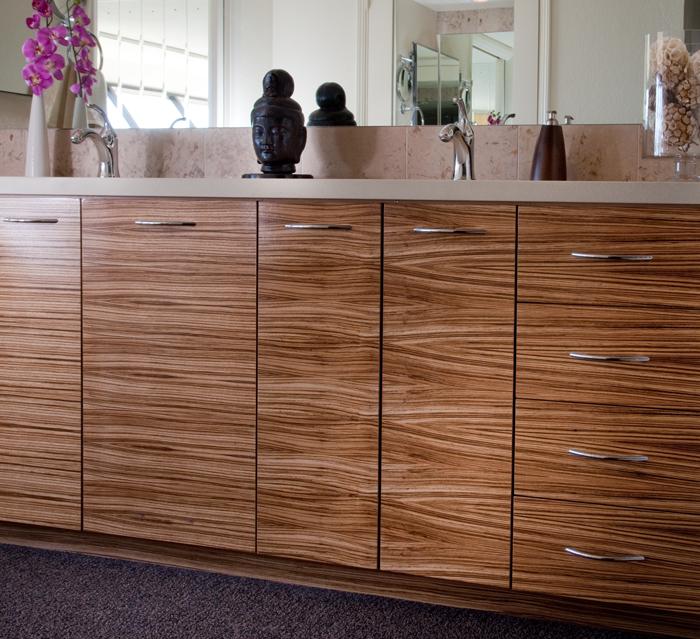 Kitchen , 8 Best Zebra Wood Cabinets : zebra wood bathroom