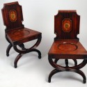 Armorial Mahogany Hall Chairs English , 10 Hottest Hallway Chair In Furniture Category