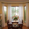 Bay Window Curtains , 11 Unique Bay Window Dressing In Interior Design Category