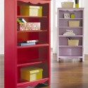 Beautiful Pink Painted Bookcase With Cheerful Design Photos , 10 Cool Bookcase Designs In Furniture Category