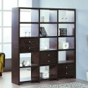 Bisect Room Divider with Bookcase , 11 Awesome Bookcases As Room Dividers In Furniture Category