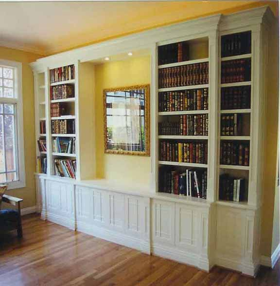 Furniture , 10 Cool Bookcase Designs : Built In Bookcase Plans Images