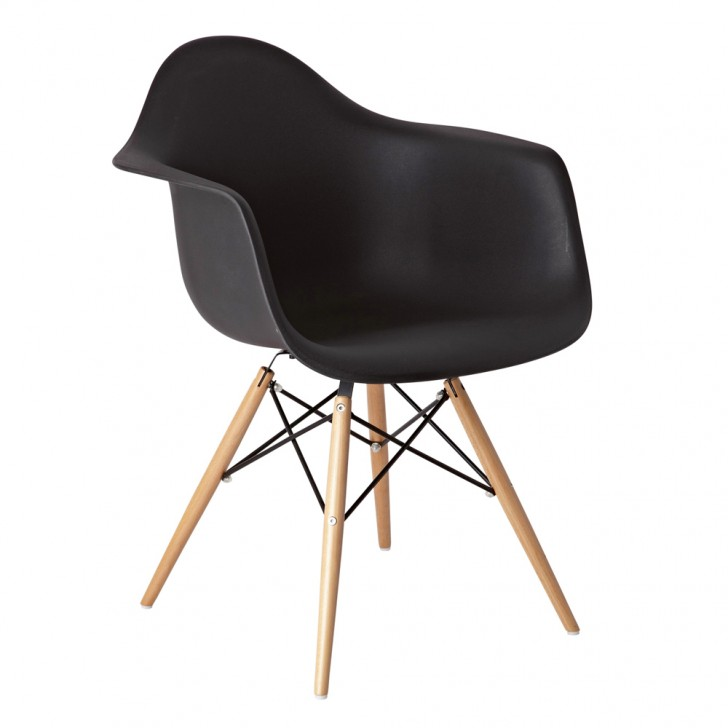 Furniture , 9 Nice Eiffel Armchair : Eiffel armchair with beech legs black