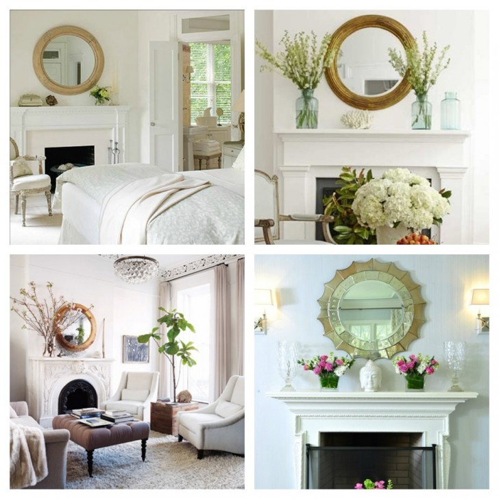 Furniture , 9 Nice Mirror Wall Decorating Ideas : Fireplace Decorating Ideas