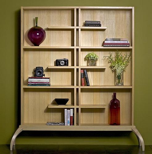 Furniture , 10 Cool Bookcase Designs : Gorgeous Bamboo Bookshelf Designed