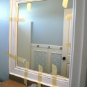 MIrror frame tutorial without nails , 9 Stunning Mirrors Without Frames In Furniture Category
