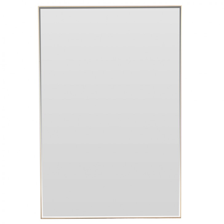 Furniture , 9 Stunning Mirrors Without Frames : Mirror in Thin Brass Frame
