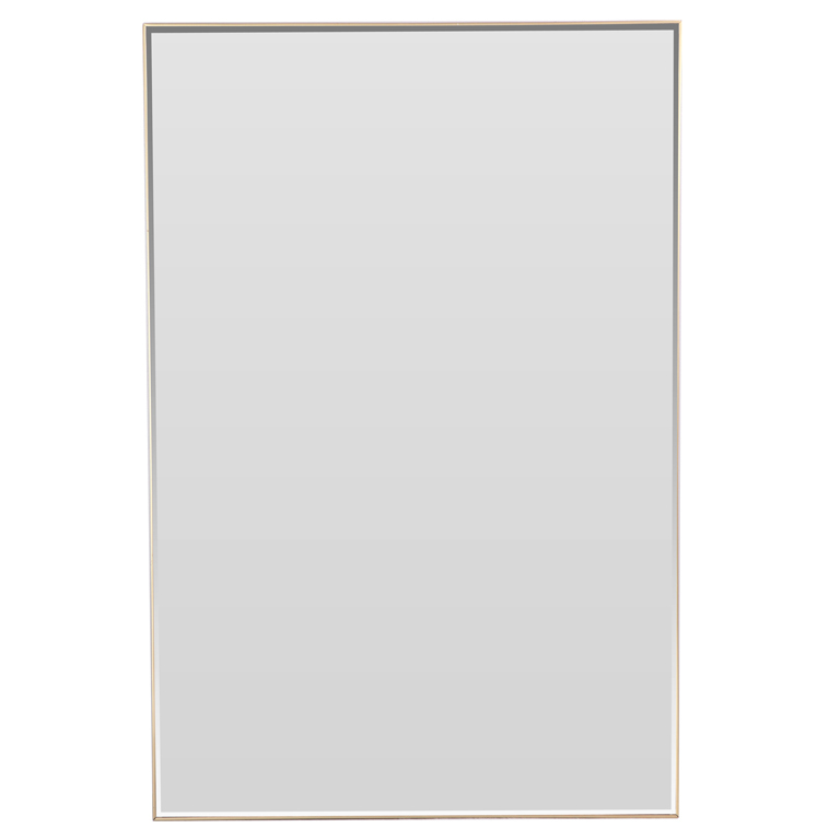 Mirror In Thin Brass Frame : 9 Stunning Mirrors Without Frames ...