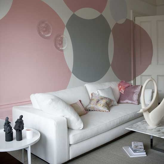Interior Design , 11 Lovely Idea For Painting Walls : Paint statement circles