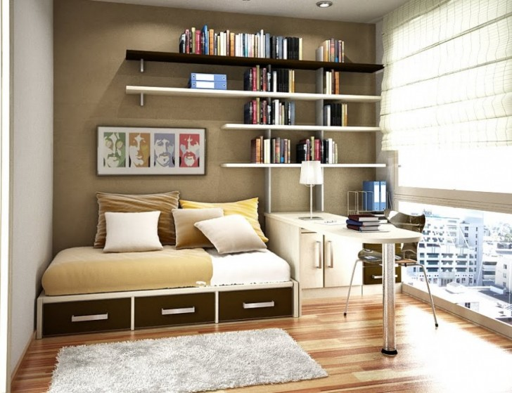 Bedroom , 12 Good Shelving Ideas For Bedrooms : Shelving Small Room Storage Ideas