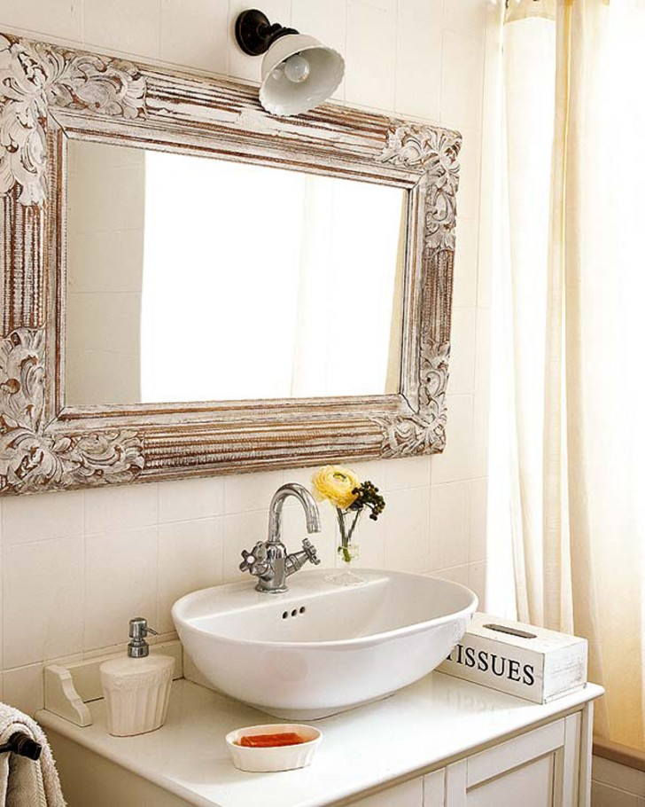 Bathroom , 8 Awesome Unusual Bathroom Mirrors : Unique mirror inside the bathroom