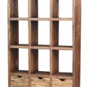 Wood open bookcase room divider , 11 Awesome Bookcases As Room Dividers In Furniture Category