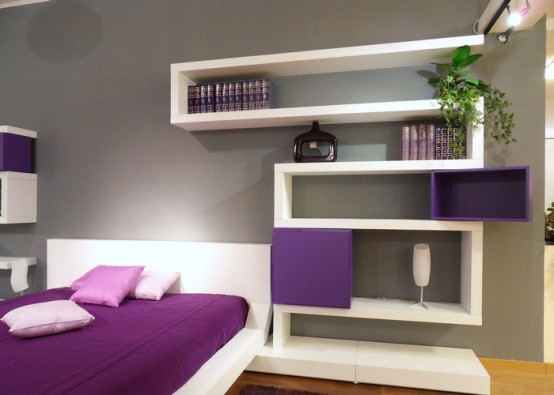 Bedroom , 10 Good Bedroom Wall Shelving Ideas :  bedroom design