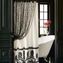black shower curtain , 7 Unique Curtain Ideas For Bathroom In Bathroom Category