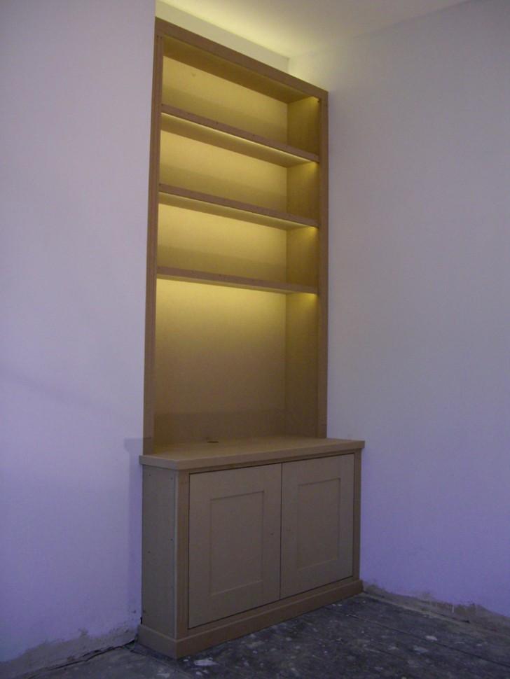 Lightning , 10 Stunning Lighting For Bookshelves :  bookshelves