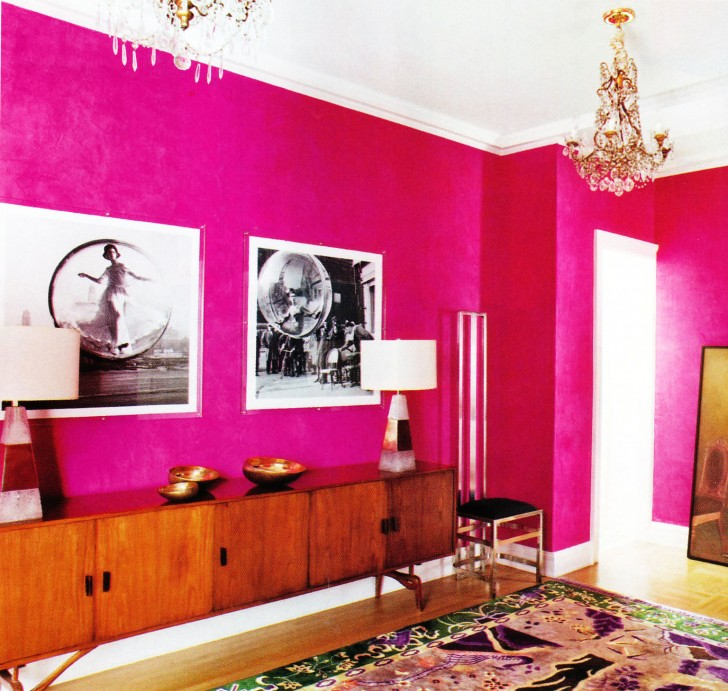 Design interior paint 8 cool hot pink interior paint for Hot pink bathroom ideas