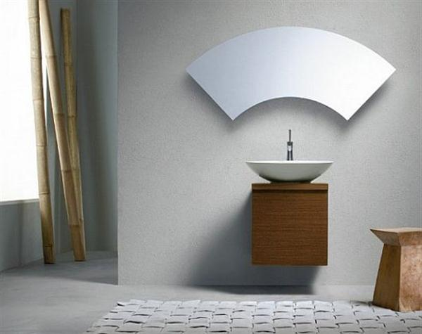 Bathroom 8 Awesome Unusual Mirrors Mirror Fan Shaped