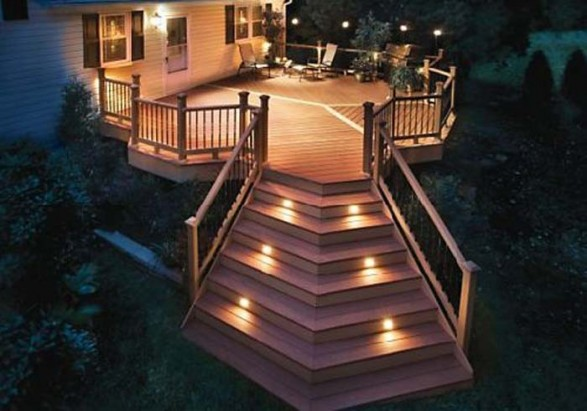Lightning , 8 Sunning Balcony Lighting Ideas : outdoor deck lighting ideas