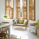 shutters bay window dressing , 11 Unique Bay Window Dressing In Interior Design Category
