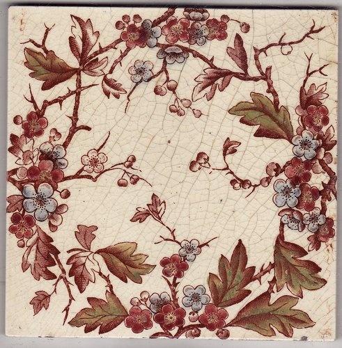 Interior Design , 10 Stunning Victorian Ceramic Tiles : Antique Victorian Ceramic Tile