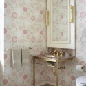 Bathroom Vanity and Floral Wallpaper , 9 Unique Wall Paper For Bathrooms In Bathroom Category