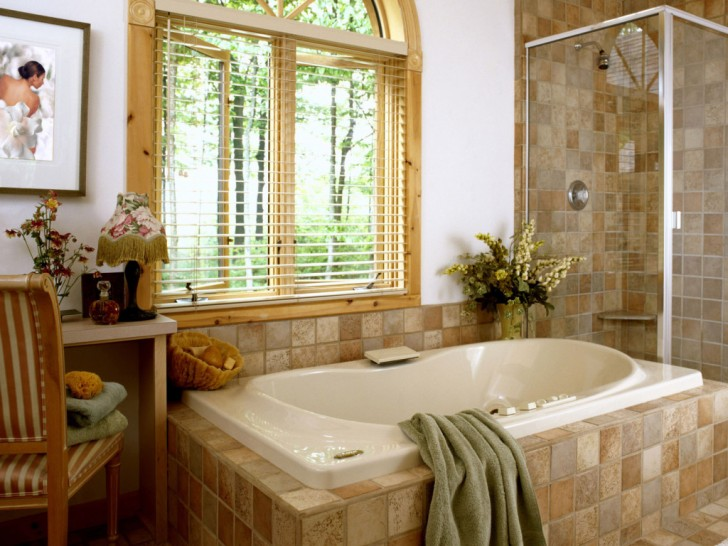 Bathroom , 8 Fabulous Wallpaper For Bathrooms : Bathroom wallpaper