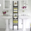 Bathroom with our IKEA Ladder , 10 Unique Ladder Shelves Ikea In Furniture Category