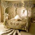 Bedroom , 10 Popular Forest Canopy Bed : Beautiful white forest canopy bed