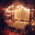 Bedroom with canopies , 9 Stunning Fairy Lights For Bedrooms In Bedroom Category