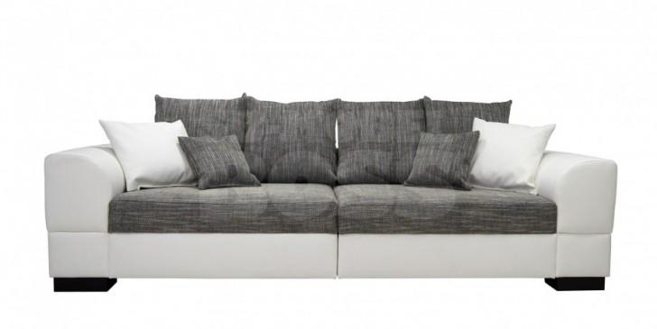 Furniture , 10 Top Big Cushions For Sofa : Big Sofas Modern Grey White Sofa Grey White Cushions