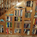 Bookcase under the stairs , 10 Best Staircase Bookshelves In Furniture Category