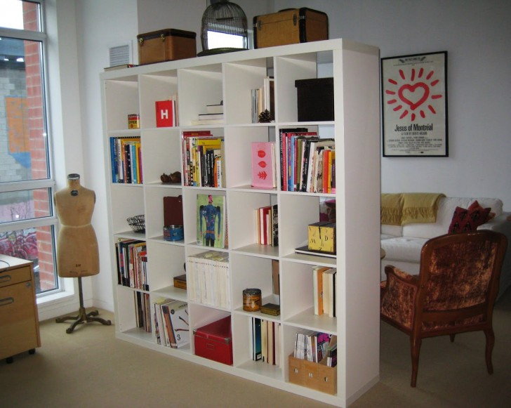 Furniture , 11 Ideal Bookshelves As Room Dividers : Bookshelf Room Divider Sample Designs