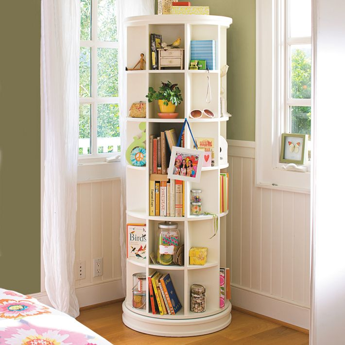 Furniture , 9 Amazing Bookshelves For Small Spaces : Carousel Bookcases
