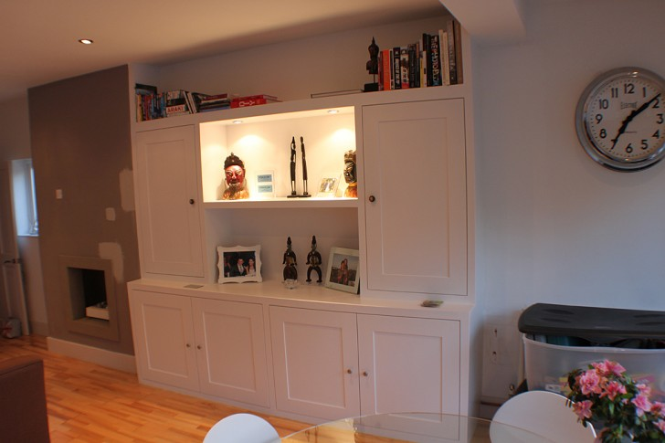 Furniture , 10 Awesome Bookshelves With Lights : Custom made bookcase