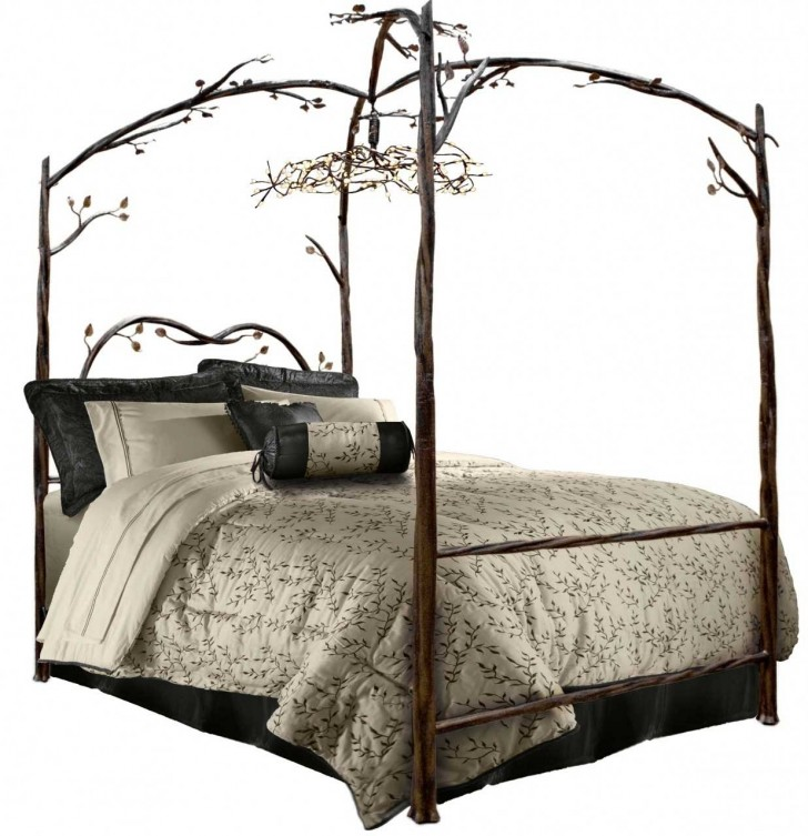 Bedroom , 10 Popular Forest Canopy Bed : Enchanted Forest Canopy Bed Hand