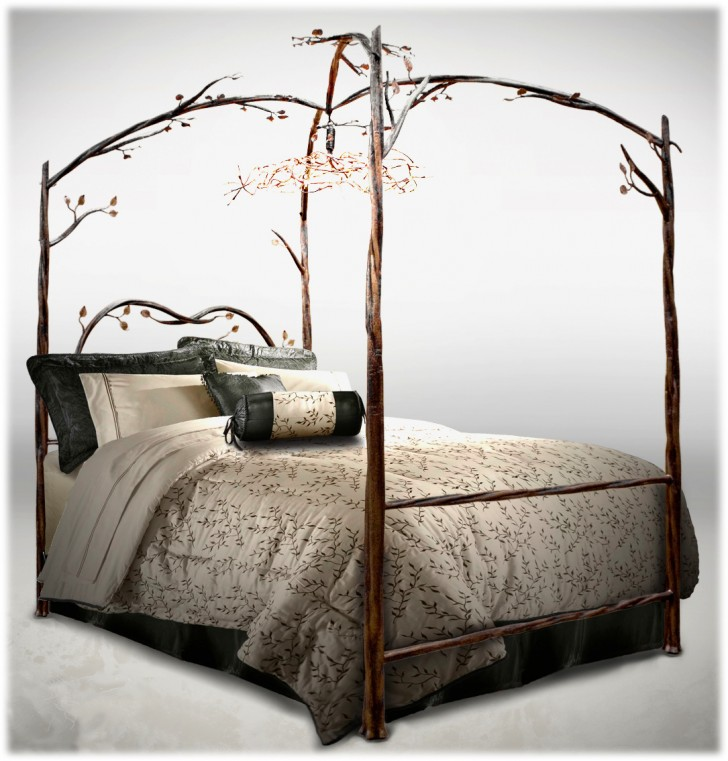 Bedroom , 8 Popular Forest Canopy Bed Frame : Enchanted forest beds