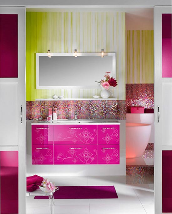 Furniture , 9 Gorgeous Girly Furniture : Girly Bathroom Furniture Design from Delpha