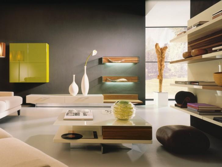 Interior Design , 8 Charming Living Room Bookshelf : High Gloss Living Room Units