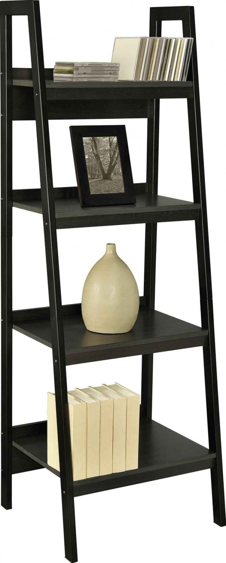 home interior ideas 10 unique ladder shelves ikea. Black Bedroom Furniture Sets. Home Design Ideas