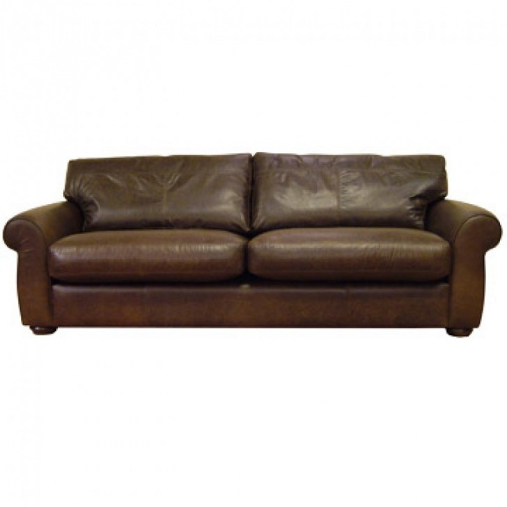 Furniture , 9 Excellent Large Cushions For Sofas : Madison large cushion leather sofa