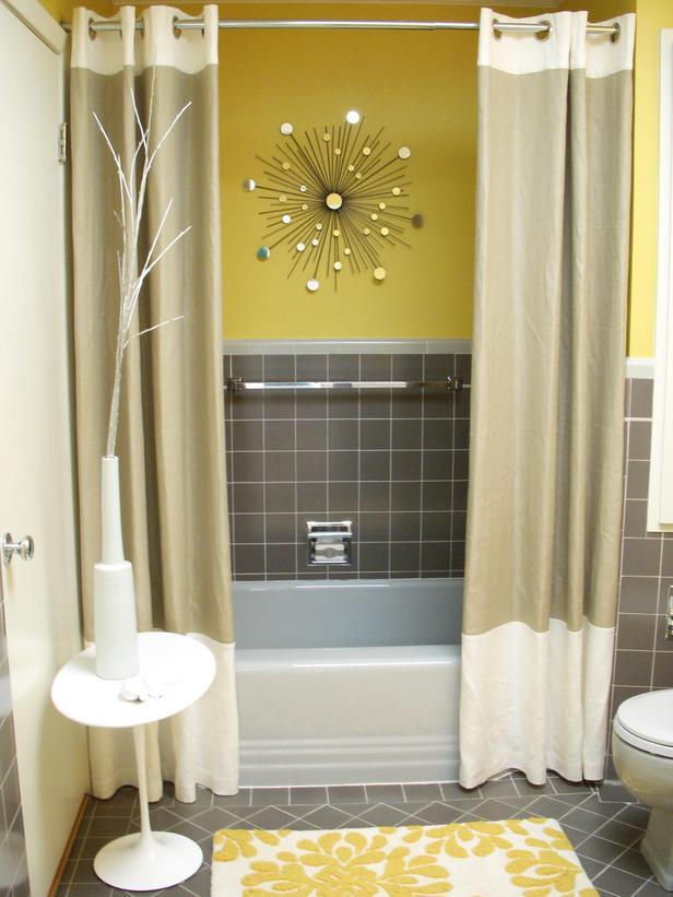 Bathroom , 9 Ultimate Bathroom Curtain Ideas : Modern Shower Curtains Design Ideas
