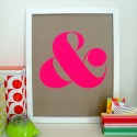 Neon wall art , 8 Top Neon Pink Paint For Walls In Interior Design Category