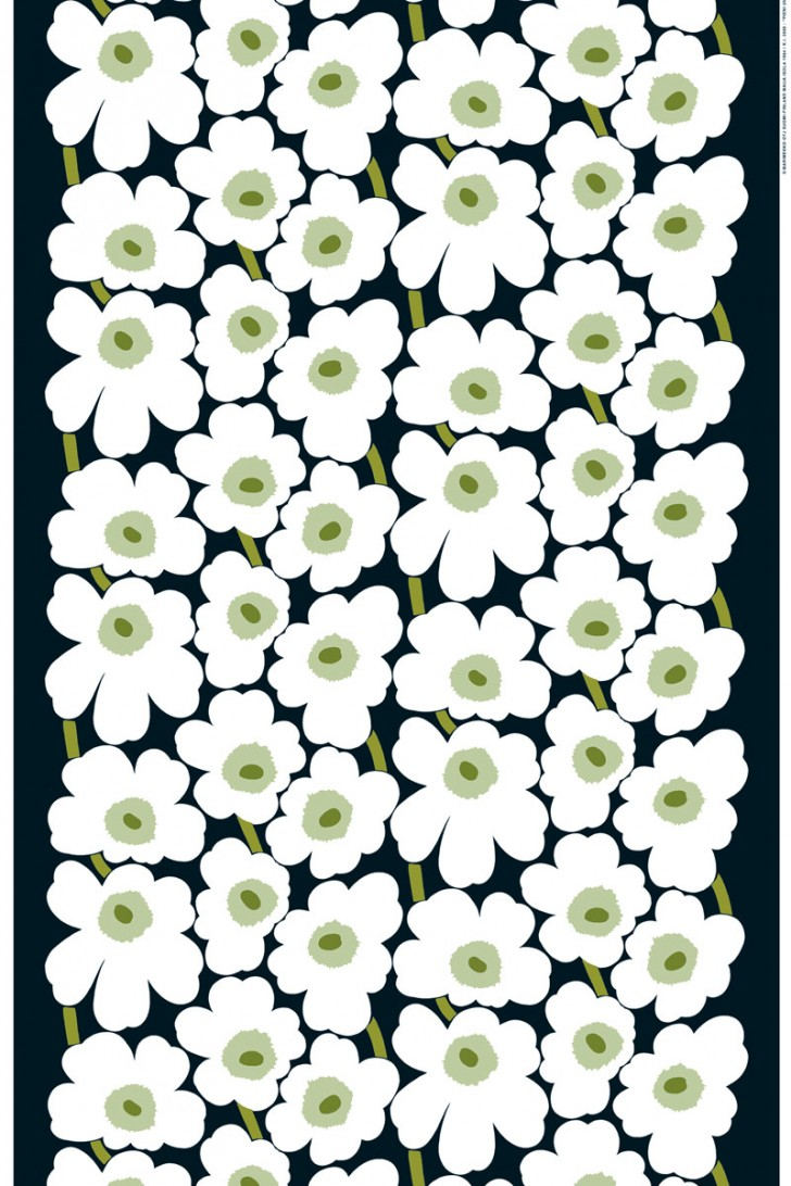 Interior Design , 9 Stunning Unikko Fabric : Pieni Unikko cotton fabric