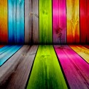 Rainbow Wall Wood Neon Paint , 8 Good Neon Wall Paint In Interior Design Category