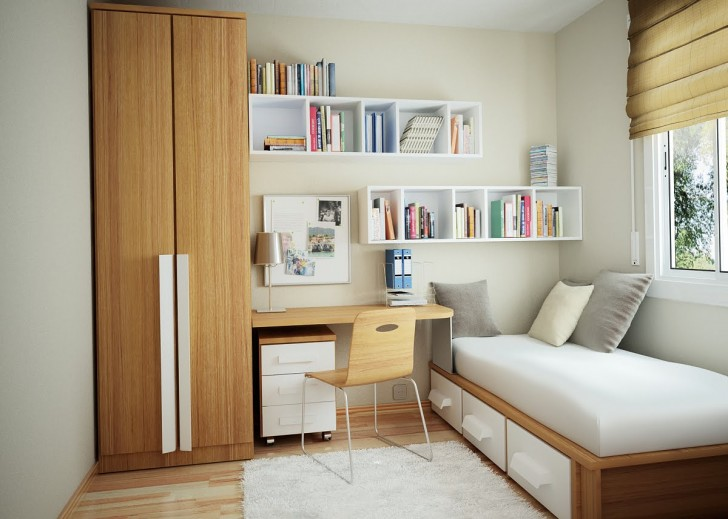 Bedroom , 9 Popular Compact Bedroom Furniture : Small Bedroom Size